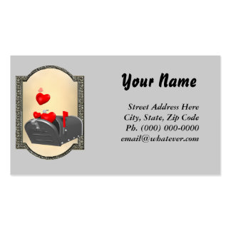 Love In The Mail Double-Sided Standard Business Cards (Pack Of 100)