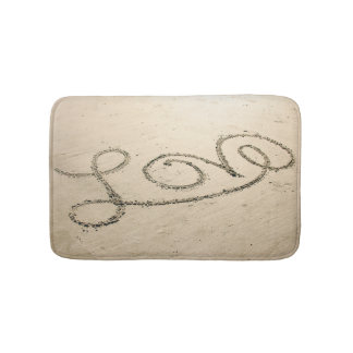 Love in the Sand Bath Mat