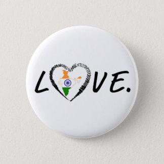Love India 6 Cm Round Badge