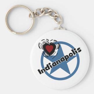 Love Indianapolis Key Ring