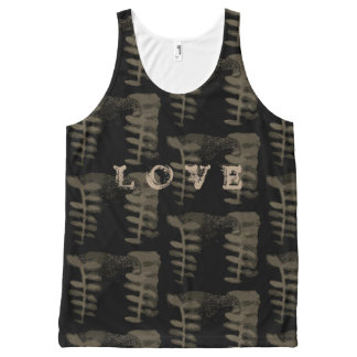 love Inked grunge All-Over Print Tank Top