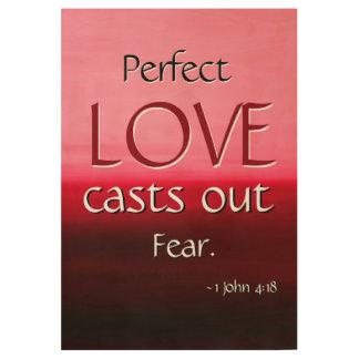 LOVE Inspirational Scripture Church Wall Art Wood Poster