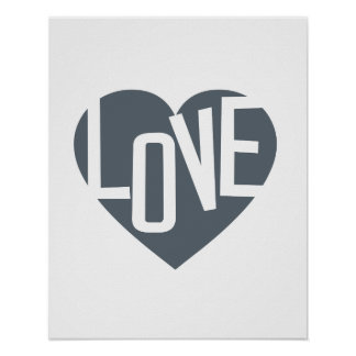 love inspirational typography poster art print