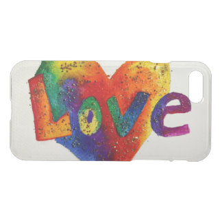Love Inspirational Word Rainbow Art iPhone 7 Case