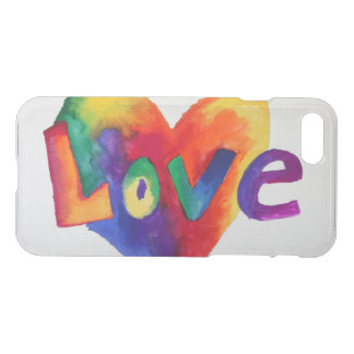 Love Inspirational Word Rainbow Art iPhone 7 Cases