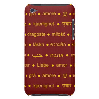 Love international typographywords iPod touch case