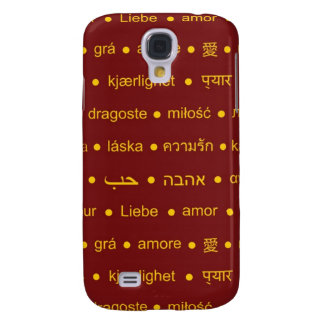 Love international words galaxy s4 case