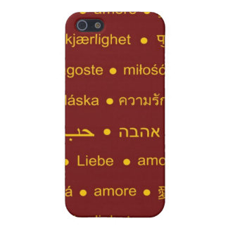 Love international words iPhone 5/5S cases