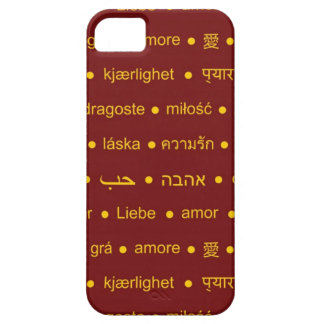 Love international words iPhone 5 cover