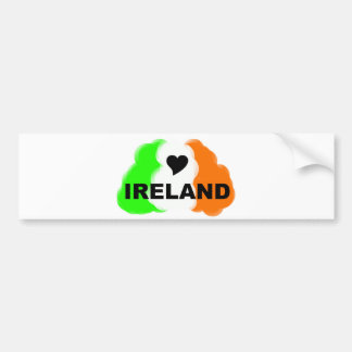 LOVE IRELAND BUMPER STICKER