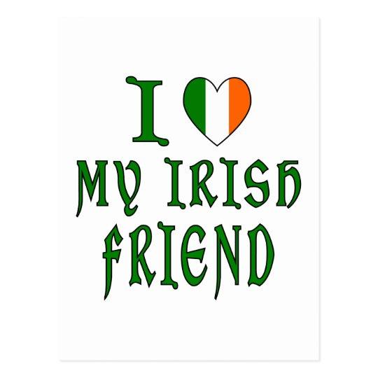 Love Irish Friend Postcard