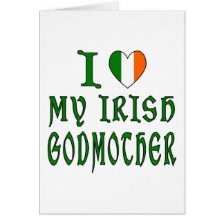 Love Irish Godmother Greeting Card