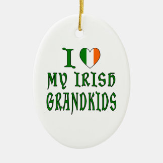 Love Irish Grandkids Christmas Ornament