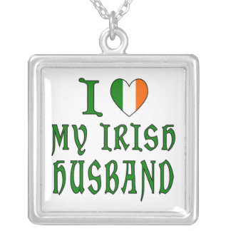 Love Irish Husband Silver Plated Necklace