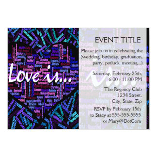 Love is... 13 cm x 18 cm invitation card