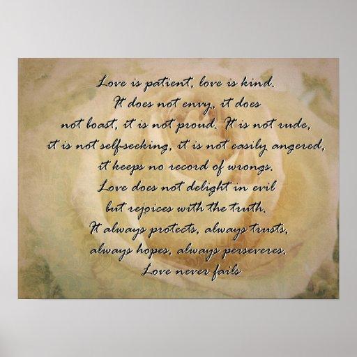 Love is 1 Corinthians 13 Posters