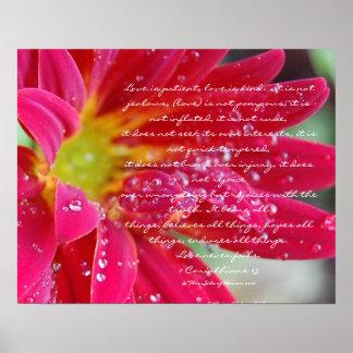 Love is.....1 Corinthians 13 Poster