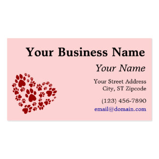 Love is a 4-letter word business cards