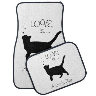 Love is a cat's purr floor mat