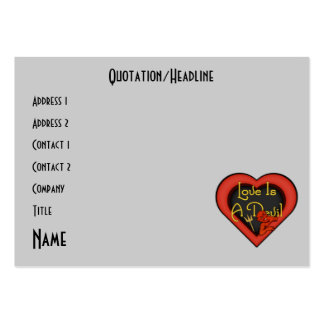 Love Is A Devil Medley Pack Of Chubby Business Cards