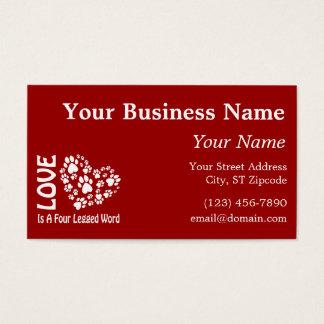 Love Is A Four Legged Word Business Card