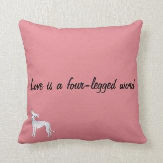Love is a four-legged word cushion