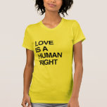 LOVE IS A HUMAN RIGHT SHIRT