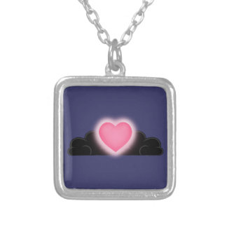 Love Is A Light In The Darkness - Pink Heart Pendants