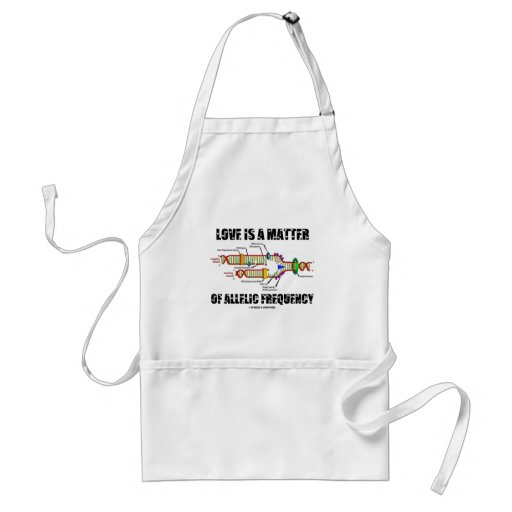 Love Is A Matter Of Allelic Frequency (DNA) Aprons