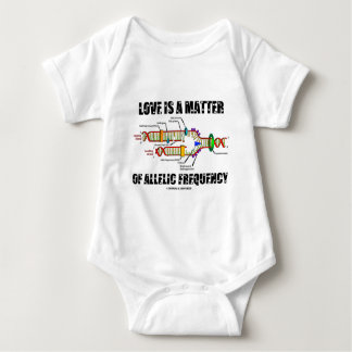 Love Is A Matter Of Allelic Frequency (DNA) Baby Bodysuit