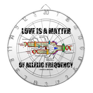 Love Is A Matter Of Allelic Frequency (DNA) Dartboard