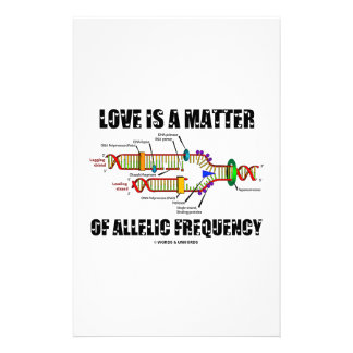 Love Is A Matter Of Allelic Frequency DNA Stationery