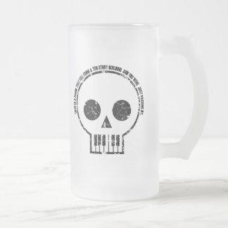 Love is a Piano Frosted Glass Mug