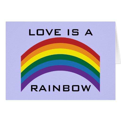 Love Is A Rainbow Greeting Card
