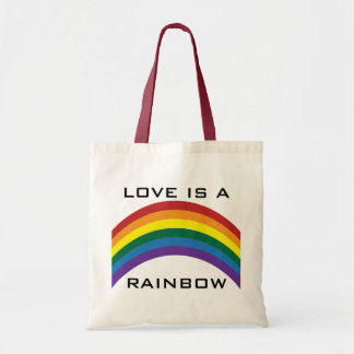Love Is A Rainbow Tote Bags