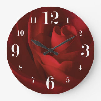 Love is a Red Rose Floral Wallclocks