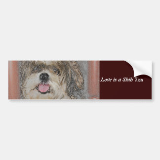Love is a Shih TzU Bumper Sticker