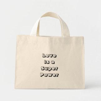 Love is a Super Power Canvas Bag