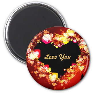 """Love Is Ablaze At Christmas Time "" * 6 Cm Round Magnet"