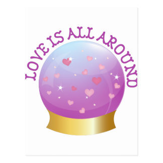 Love is All Around Postcard