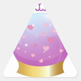 Love is All Around Triangle Sticker
