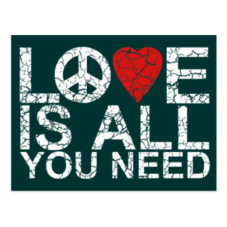 Love is All Postcard