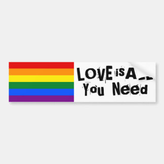 Love is all you need bumper sticker
