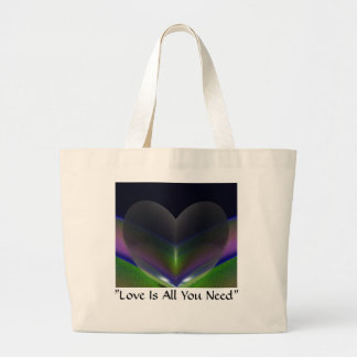 """""""Love Is All You Need"""" canvas bag by Zoltan Buday"""