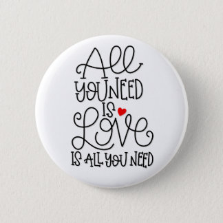 Love Is All You Need | Hand Lettered Button