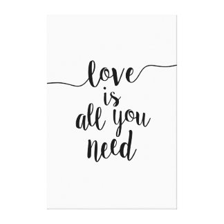 Love Is All You Need Large Scale Canvas Print