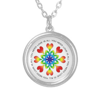Love is All You Need Pride Round Pendant Necklace