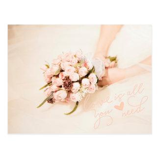 Love is all you need- Wedding Postcard