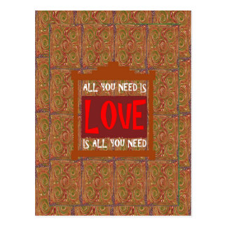Love is ALL you need - wisdom words quote saying Postcard