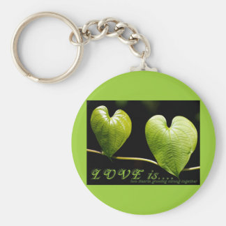 Love is.... basic round button key ring